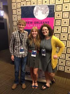 Bryan, Jasmine, and Diane at the World Premiere of unmappable.